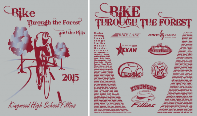 KHS Fillies Bike ride 2015